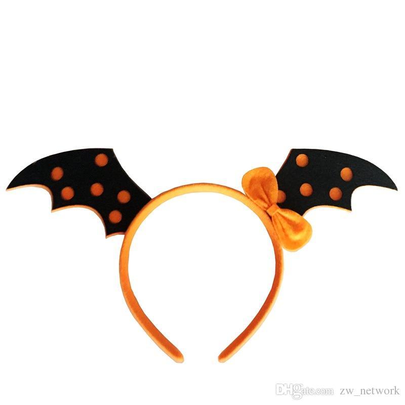 Halloween headband Bats Pumpkin Spring Hair Bands Hoop Children Funny Party Headbands Headdress Kids Hair Accessories For Girl Gift 77