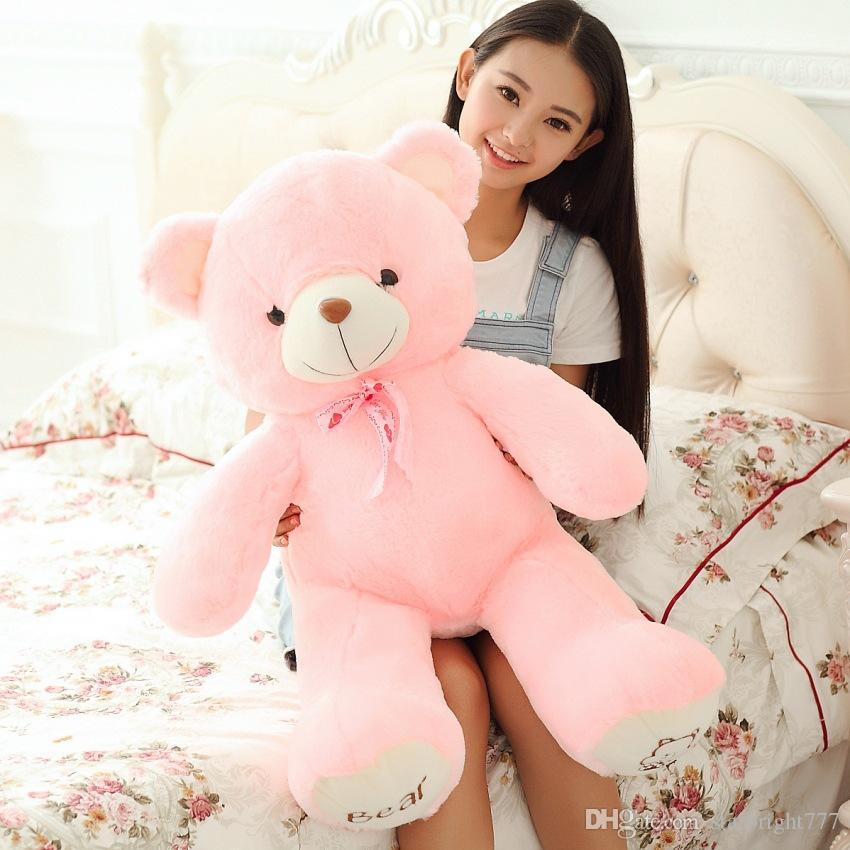 60CM One Piece Comfortable Teddy Bear With Tie PP Cotton Stuffed High Quality Plush Bears Toys Valentine's Day Present