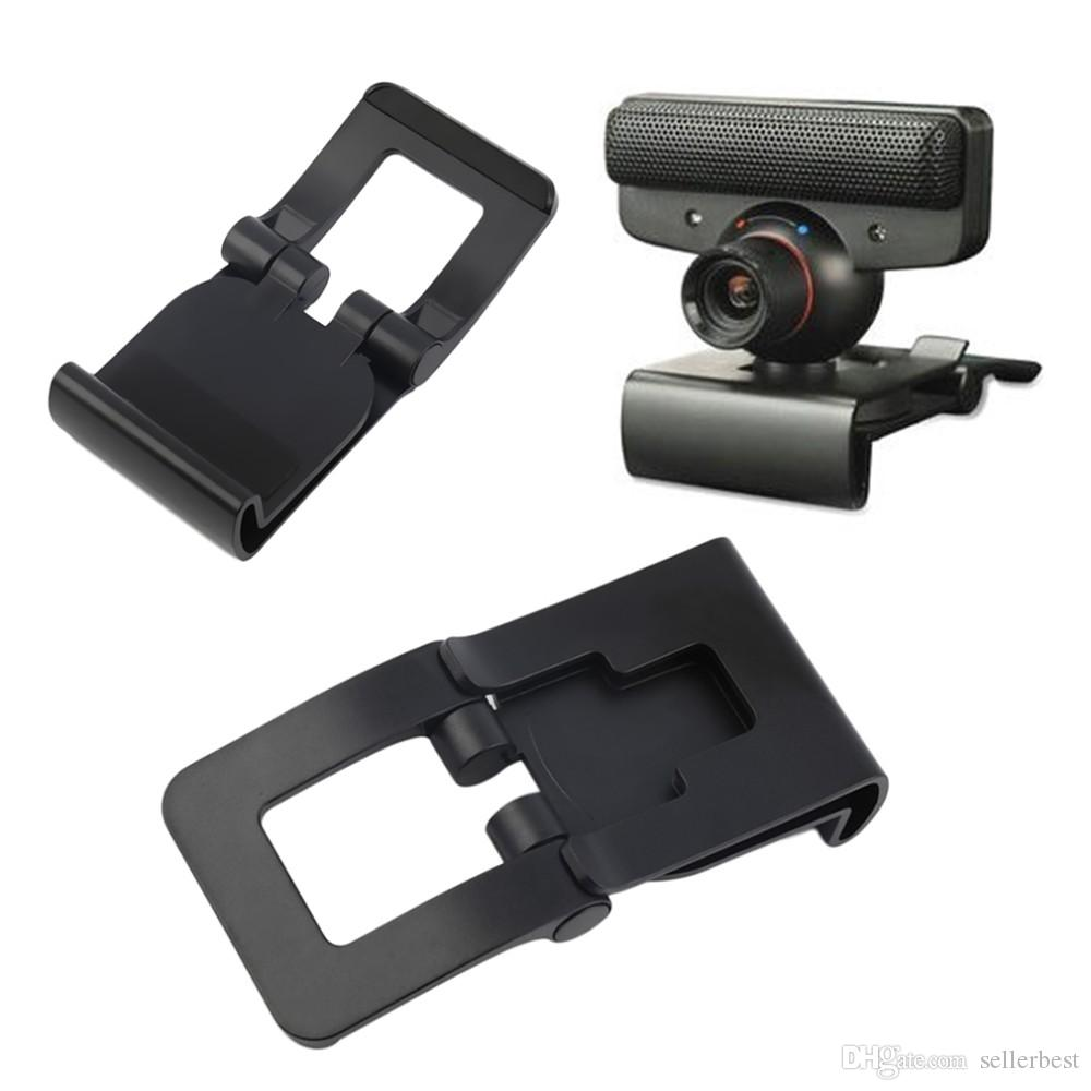 Black TV Clip Bracket Adjustable Mount Holder Stand For Sony Playstation 3 PS3 Move Controller Eye Camera Wholesale