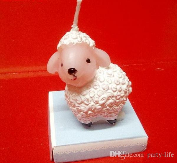 Creative Small lamb birthday candles Children's party decoration candle Valentine's day birthday candle