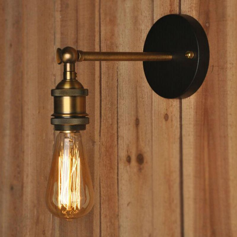 New 110-220V Loft Coppor Vintage Industrial Rustic Sconce Wall Light E27Fixtureswall l& outdoor l& balcony l&s E5M1 orderu003c$18no track : vintage track lighting - azcodes.com