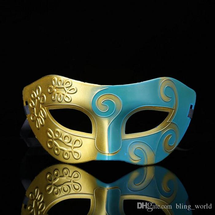 Retro Greek Roman Soldier Masks Multi Colors Venetian Mask Men Carnival Cosplay Decoration Party Masquerade Props Gift 9 Designs YW216