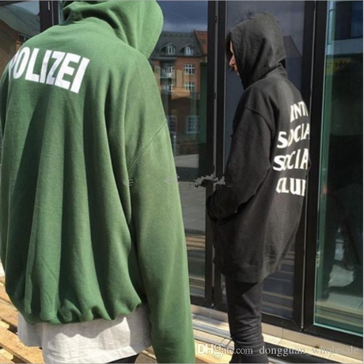 25a8826cefa 2019 Newest Fashion Sweatshirt Green Polizei 16ss Embroidered Hoodie With  Letters Men Women Hiphop Hoodies Streetwear Urban Clothes From  Dongguan wholesale