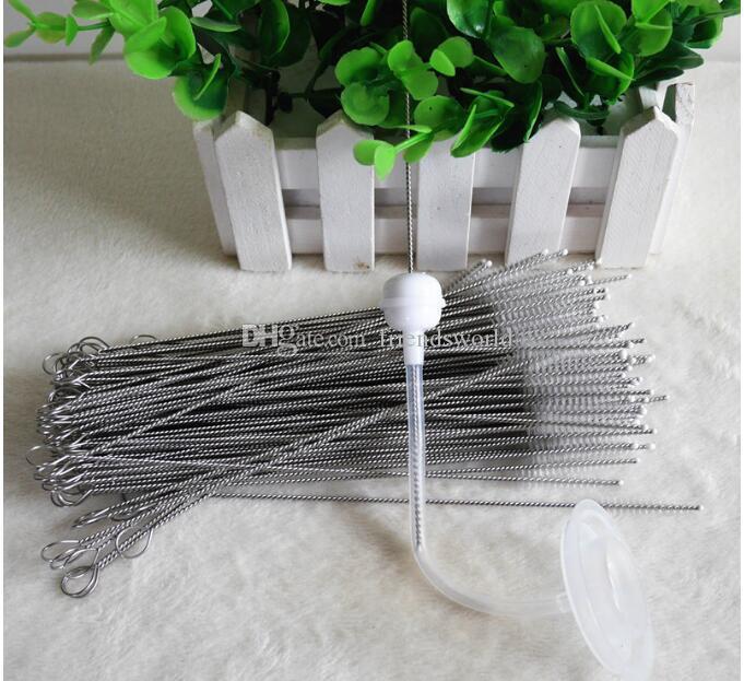 Щетка для очистки соломинок из нейлона для питьевой трубы из нержавеющей стали