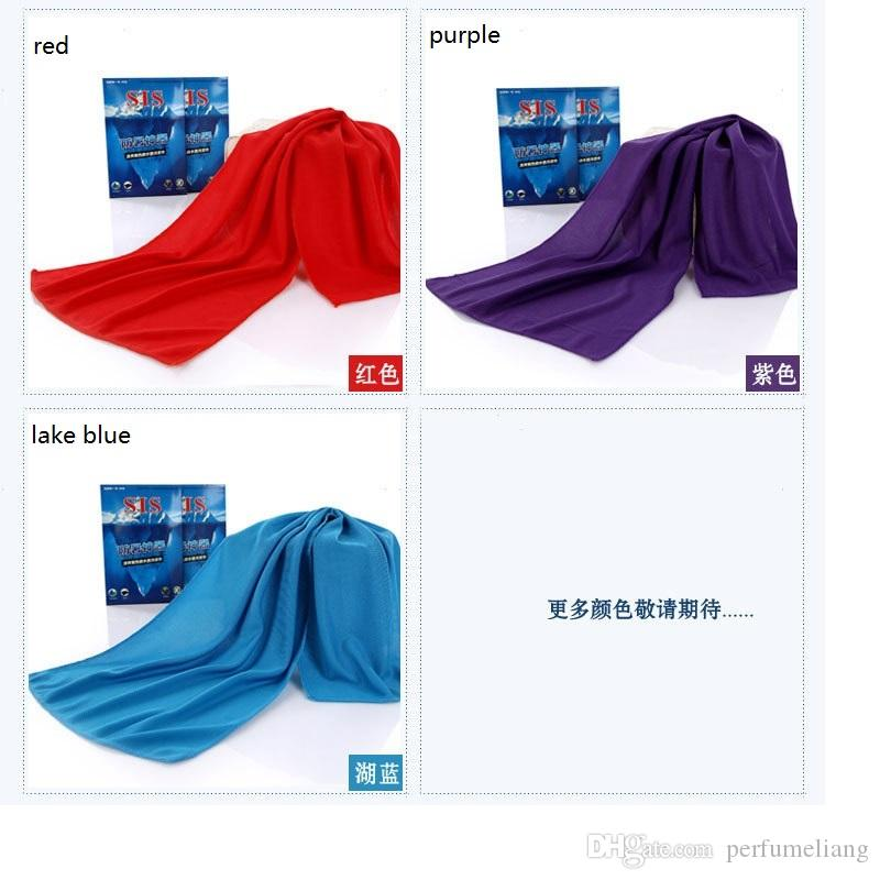 Gifts package Cold Towel Summer Sports Ice Cooling Towel Double Color Hypothermia cool Towel for sports WA0634