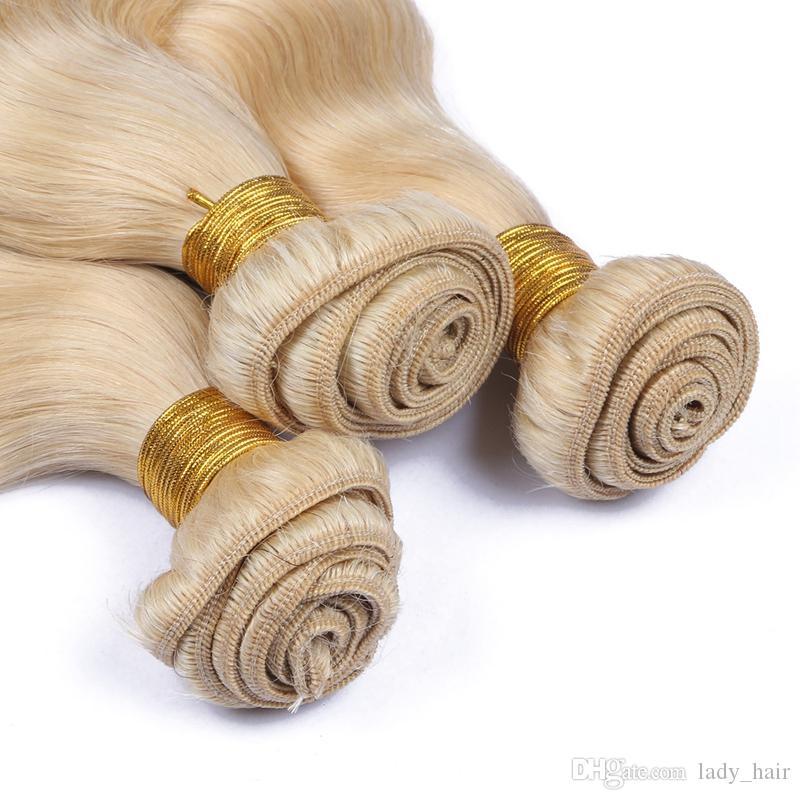 # 613 금발 러시아어 버진 인간의 머리카락 위브 9A 학년 버진 러시아어 플래티넘 금발의 인간의 머리카락 몸 웨이브 물결 모양의 헤어 번들 많은