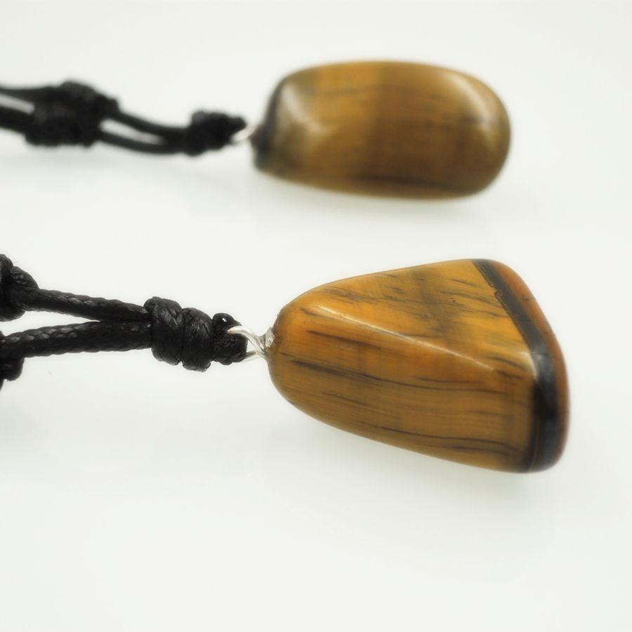 natural smooth tiger's eye stone pendant random sharp of brillant Polished rhyolite gemstone Necklace unisex Statement jewelry gift T1008