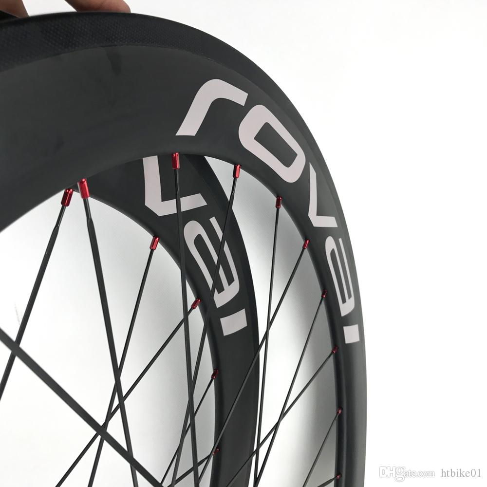 Carbon Fiber Rennrad Clincher 60mm Räder China Carbono Fiber Aero 700C Rad