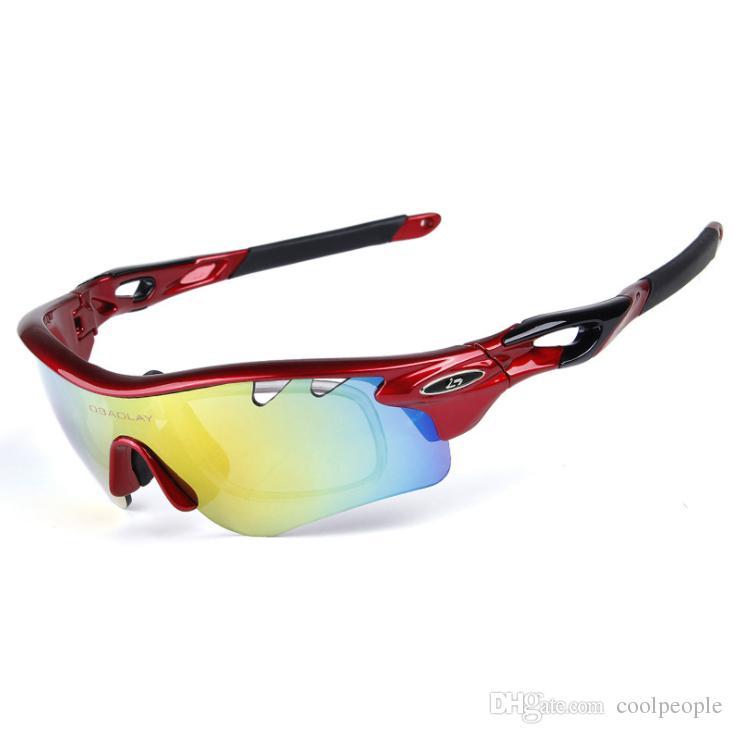 0462172a29 Compre Óculos De Sol Dos Esportes Das Mulheres Dos Homens Polarizados Óculos  De Sol De Ciclismo Ao Ar Livre Com 5 Lentes Intercambiáveis para Pesca ...