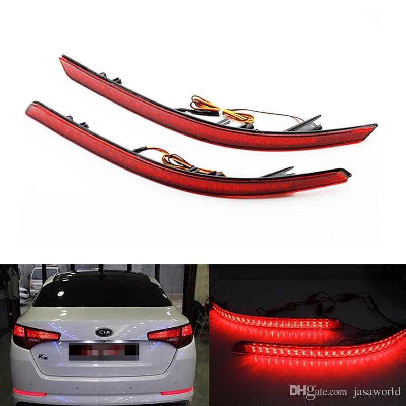 2018 Car Accessories Red Brake Tail Light Rear Bumper Reflector ...