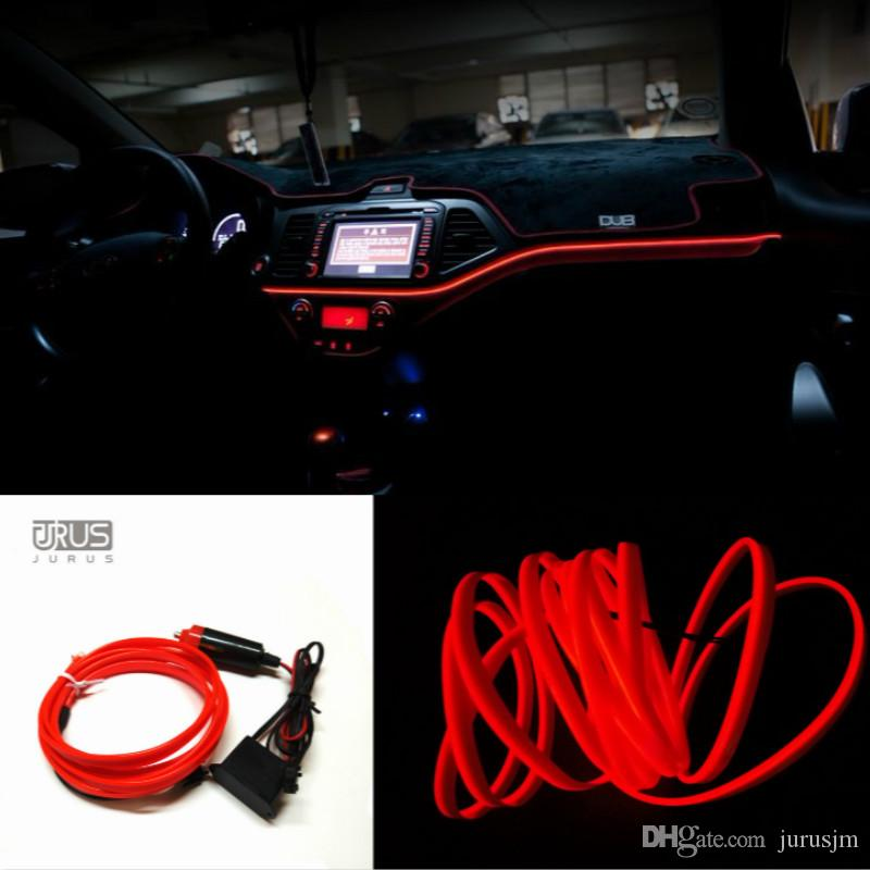 Automobiles & Motorcycles Decorative Lamp Dedicated New 3m Bar-clip Cold Light Interior Atmosphere Lights Automotive Led To Change The Decorative Neon Light Glow
