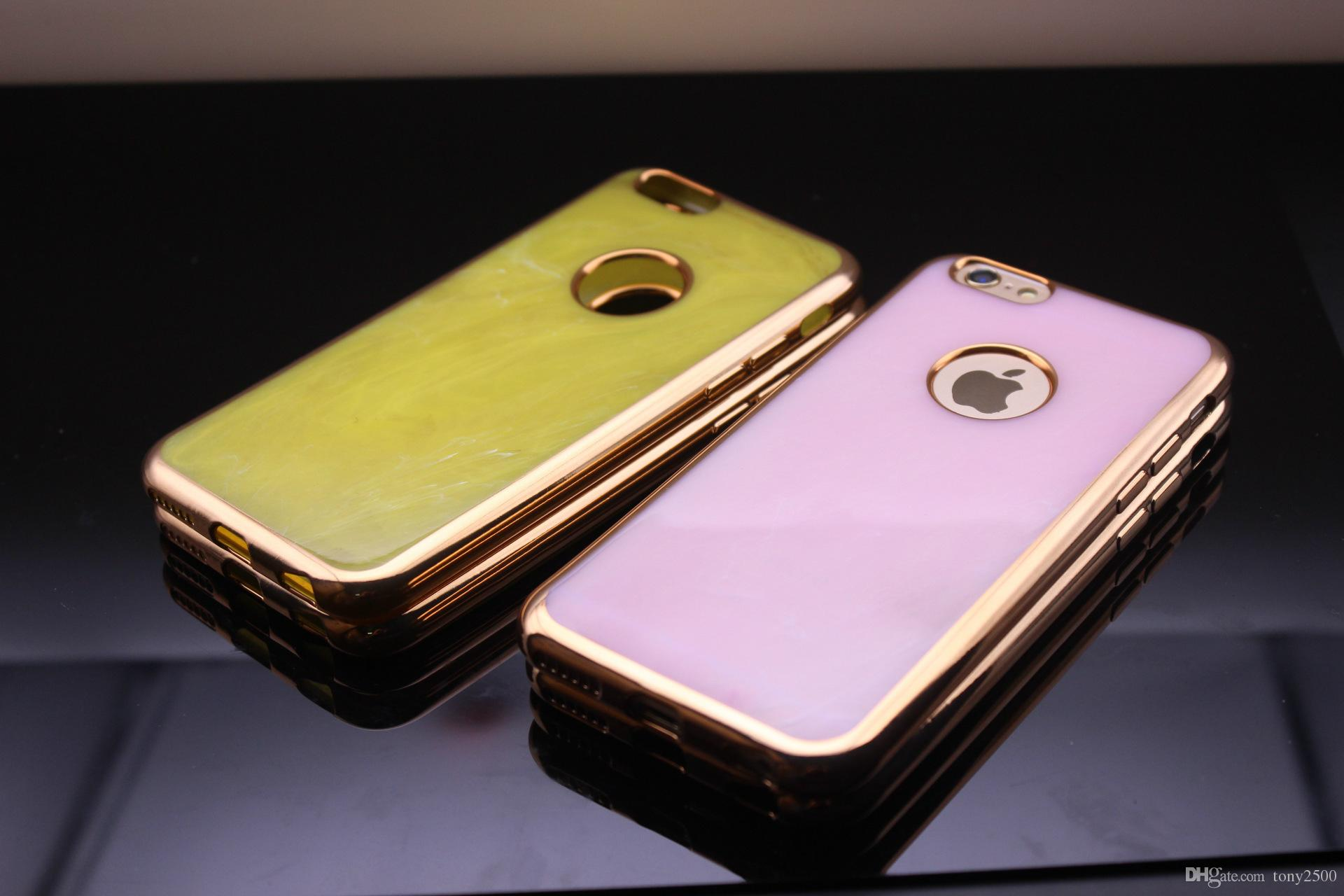 2016 Newest Electroplate Soft TPU Case Jade Scrub Plating Bling Metal Chrome For Iphone SE 5 5S 5th 6S 6 Plus 4.7 5.5 I6S skin Cover Luxury