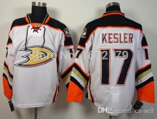 ed9dc3fd8 2019 CHEAP WHOLESALE 2015 MENS ICE HOCKEY ANAHEIM DUCKS  17 RYAN KESLER  WHITE AWAY PREMIER 100% STITCHED SPORT JERSEY From Cn Sell