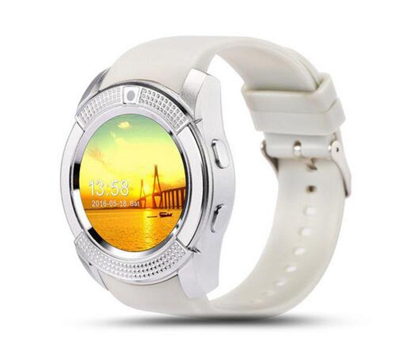 New Arrival 8 Colors V8 Smart Watch Phone Bluetooth 3 0 IPS HD Full Circle  Display MTK6261D Smartwatch VS GT08 DZ09