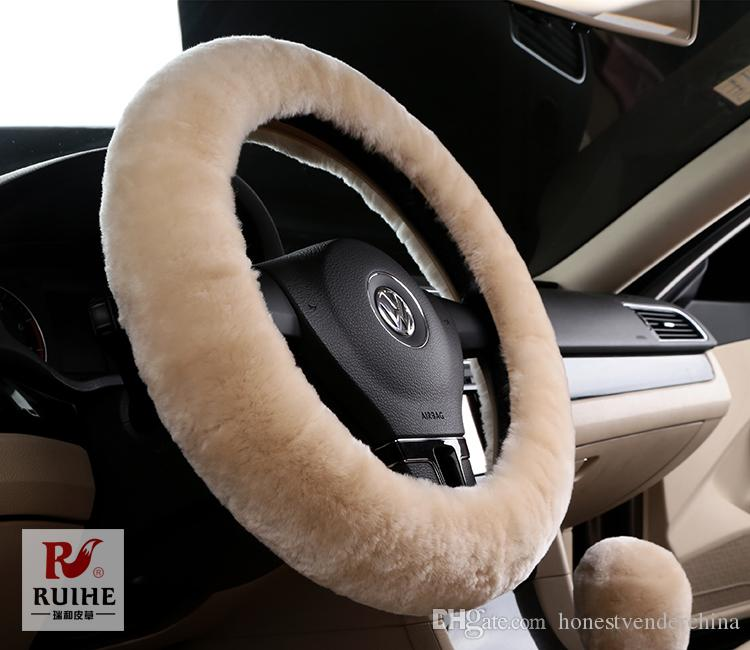 Car Interior Accessories Brown Car Steering Wheel Glove
