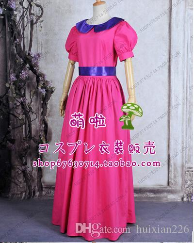 princess party costume Super Mario Bros peach Bubble princess cosplay dress costume