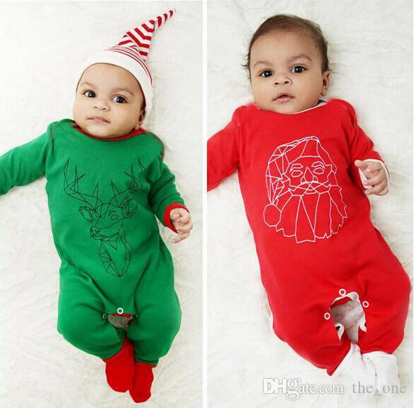 2feea99a3f5f5 Newborn Baby Girl Christmas Romper 2016 Autumn Infant Long Sleeve Reindeer  Santa Claus Cosplay Jumpsuit Boys Spring Cotton Clothes in stock