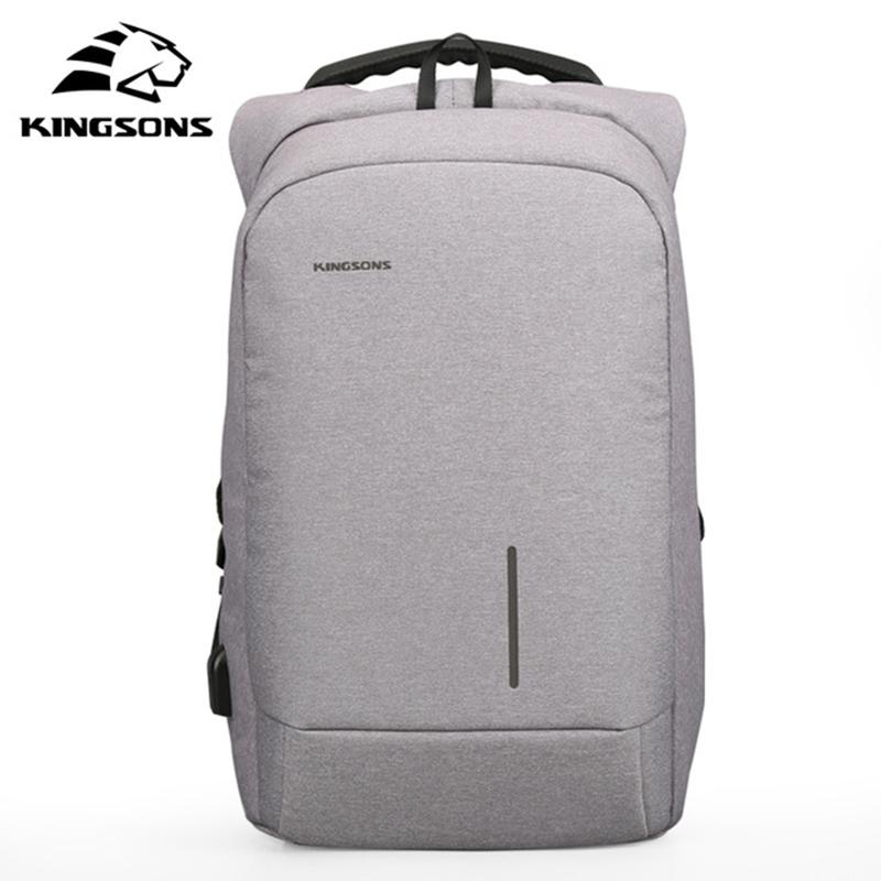 kingsons New Arrivals Men Backpack For 13 15.6inches Laptop Backpack Large Capacity Casual Style Bag Water Repellent Backpack
