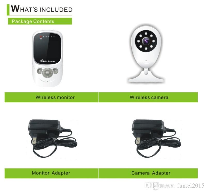 2.4 inch Wireless Baby Monitors Video Security Camera 2.4GHz Monitor Bebe Audio Night Vision Temperature Detection