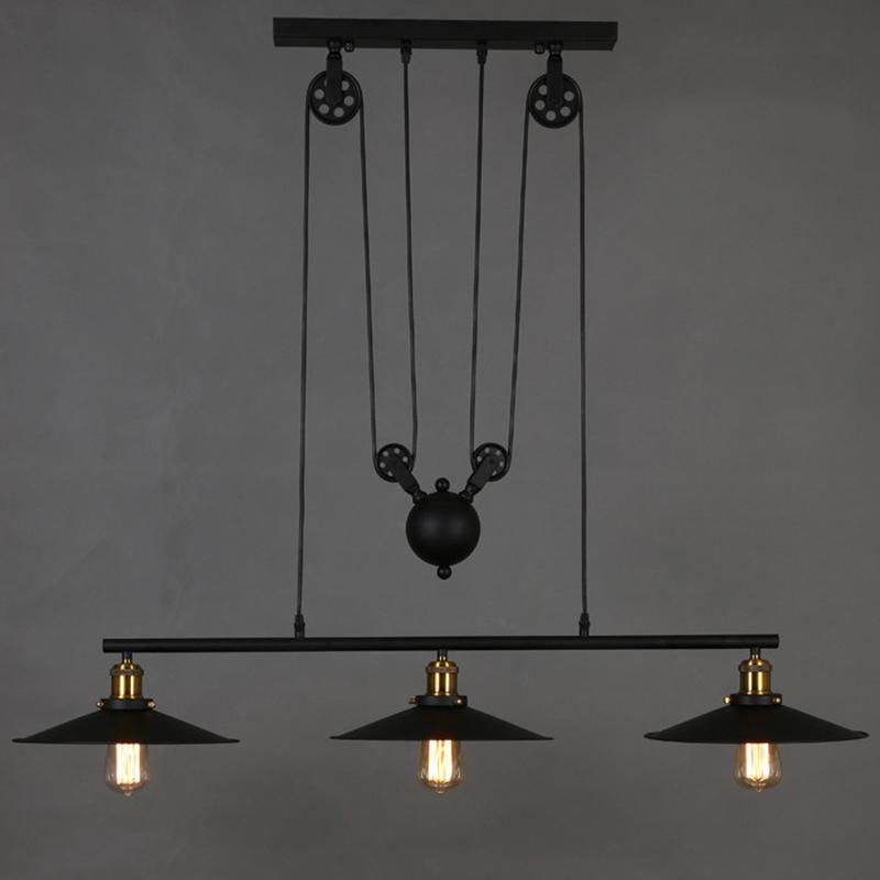 pulley pendant lighting. Dhl Ship Retro Iron Pulley Pendant Lights Loft American Vintage Industrial Rope Antique Edison Lamps Ceiling Light Shade Lantern From Lighting R