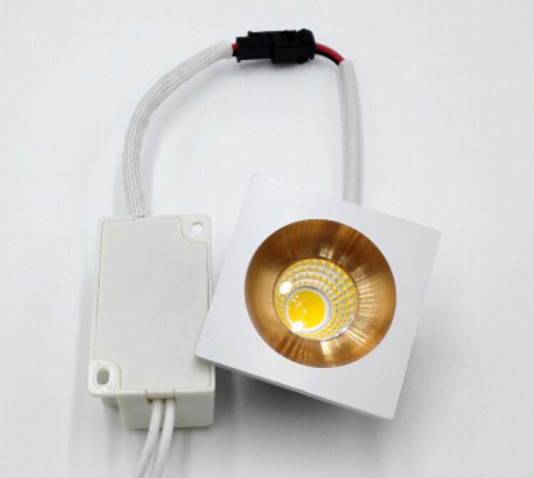 10 unids / lote 5W Dimmable LED downlight COB Led spot luces de techo 110V 220V led luz del panel Empotrada lámpara de aluminio blanco frío caliente