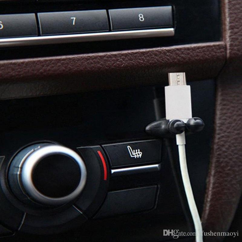 مقاطع كابل متعددة الأغراض سيارة شاحن شاحن خط سماعة رأس USB الهاتف المحمول كابل كليب زينة الداخلية سطح المكتب كابل كليب