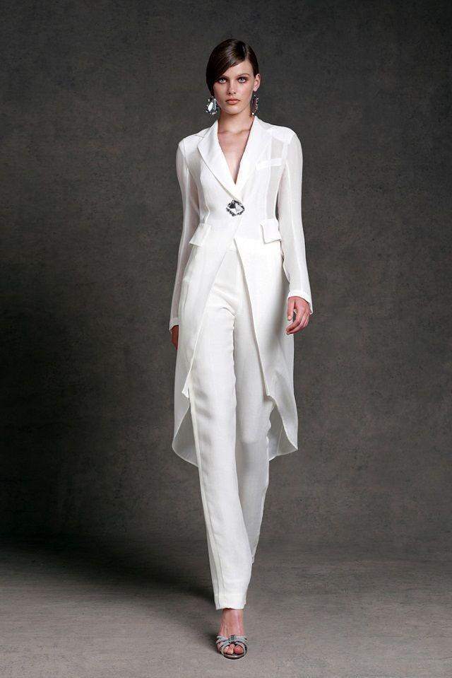 Vestidos modestos de gasa de la madre de la novia Pantalones Trajes con cuello en v Mangas largas Vestidos de noche formales Largo del tobillo Vestido de madre de la novia
