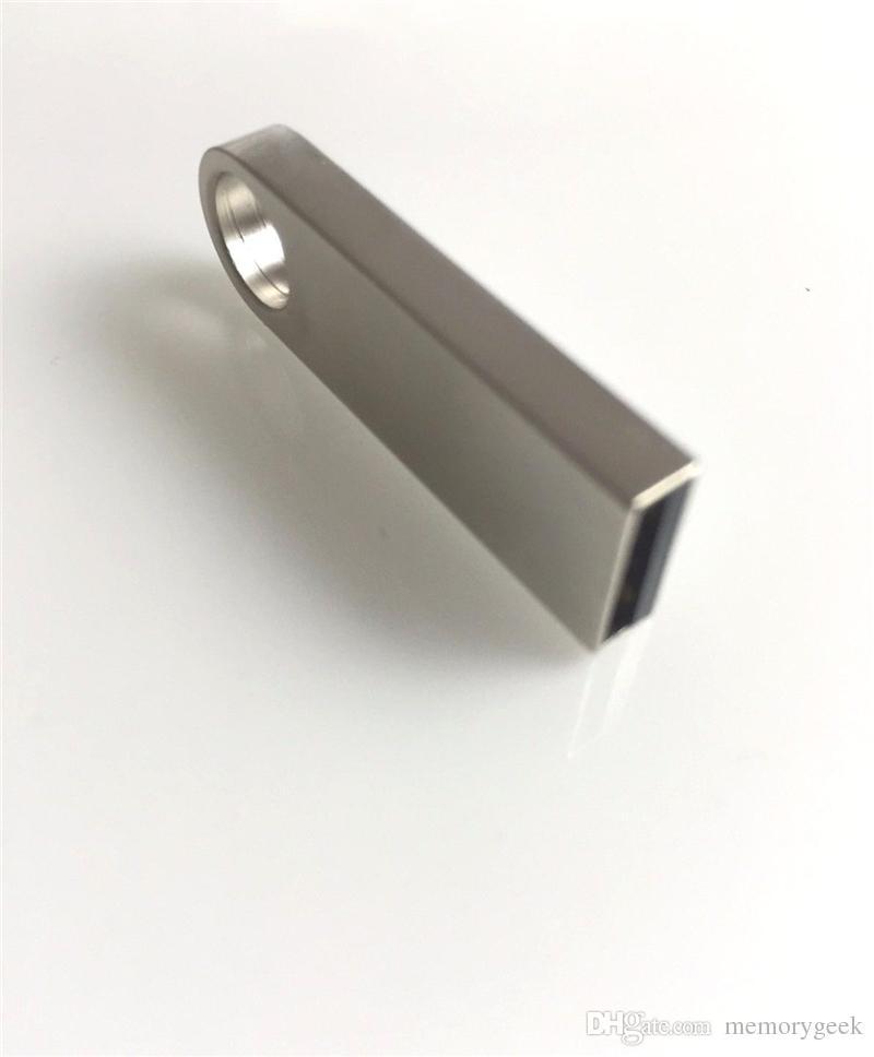 64 Go 128 Go 256 Go Clé USB2.0 Clé USB Stylo Bille Argent Métal Mémoire U Clé USB pivotante Clé USB Paquet de vente au détail iOS Android 01