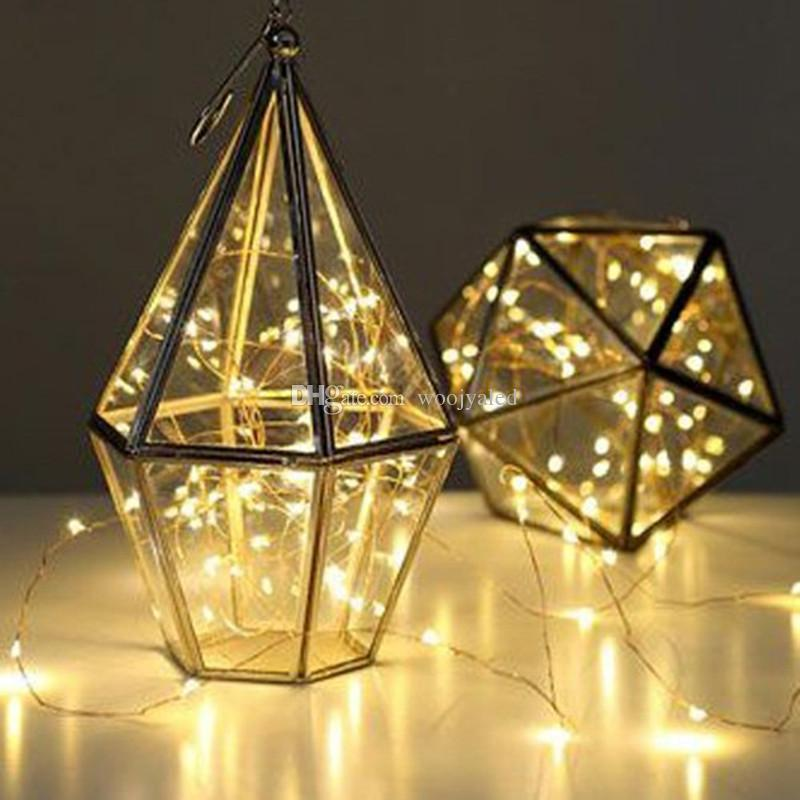 waterproof 2m led AA Battery Powered LED Copper Wire Fairy String Lights Lamps indoor outdoor flexible DYI lighting for Christmas Party