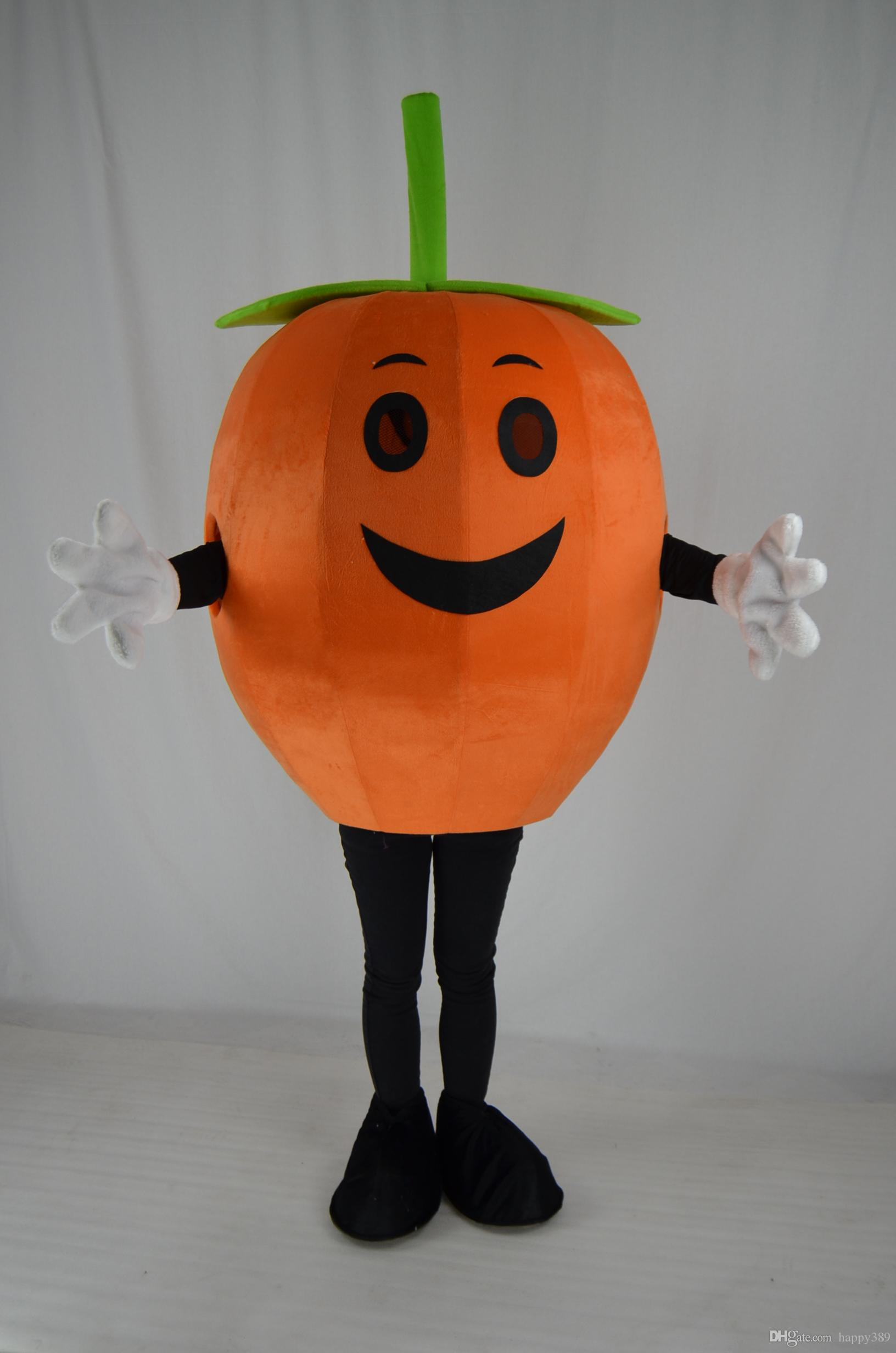 Halloween Pumpkin Man Mascot Costume Adult Size Custom Mascotte Costumes