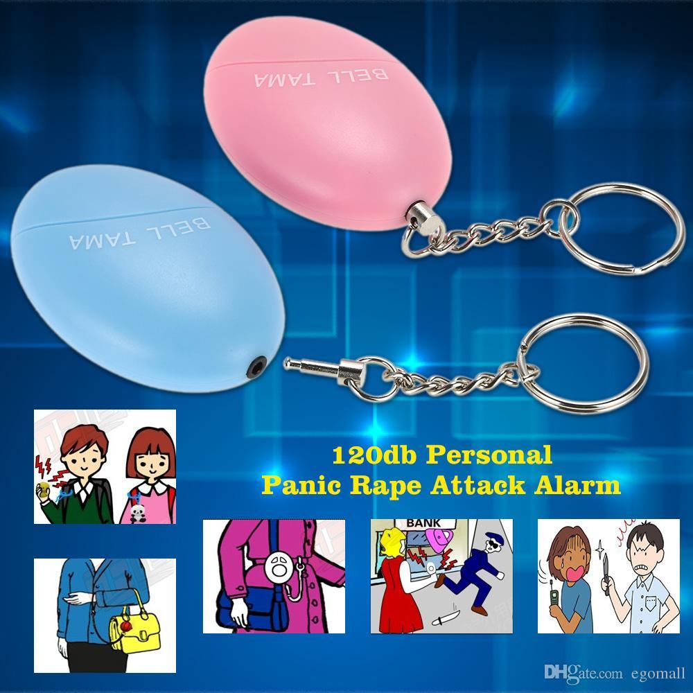 Alarmas personales Bell Tama Loud Safe Stable 120 Decibelios Mini llavero portátil de alarma Safe Football Panic Anti Rape Attack Safety Security