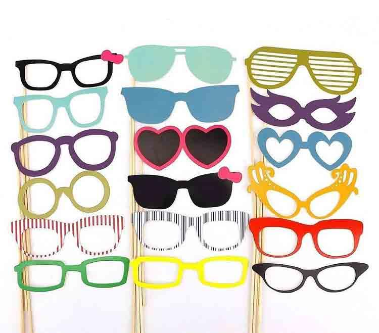 2016 new Design DIY Funny Photo Booth Props with lips moustaches glasses Cute fashion for wedding Christmas Party Decorations