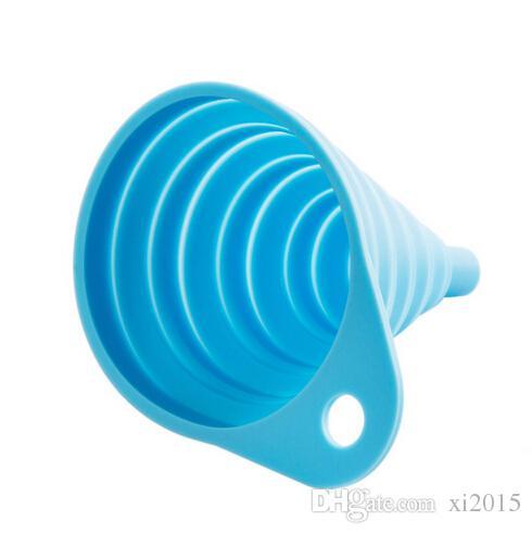 مصغرة سيليكون قابلة للطي القمع قمع قابلة للطي لنقل السائل