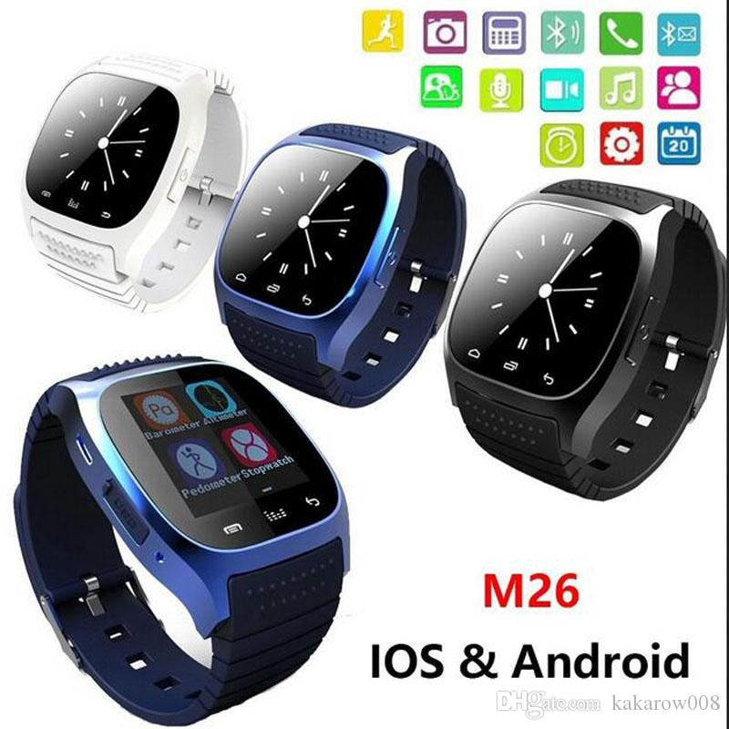 1c90a70a4e0 Waterproof Smartwatch M26 Bluetooth Smart Watch With LED Alitmeter Music  Player Pedometer For Apple IOS Android Smart Phone Smart Watches For Cheap  Smart ...