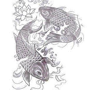 Large Big Fish Designs Temporary Tattoo Stickers Waterproof Body Paint Tatoo 3d Art Drawings For ...