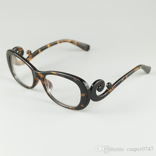 New Brand Sexy Lady Glasses Frame Floating Clouds Baroque Style Design Clear Lens Tortoise Optical Eyewear