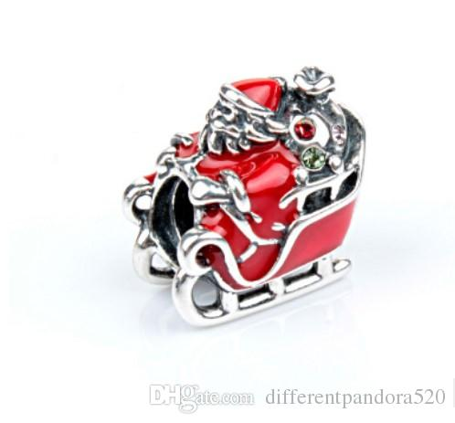 ef9bccdeb 2019 Fit Pandora Charm Bracelet European Silver Charms Christmas Santa  Series Sleigh Beads DIY Snake Chain For Women Bangle & Necklace Jewelry  From ...