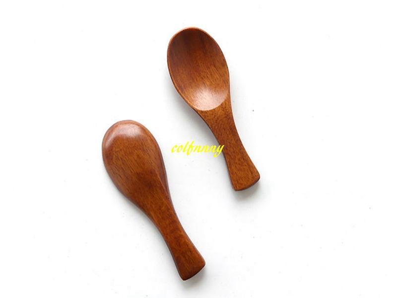 100 шт. / лот 8 * 2.8 см Мини деревянная ложка чайная ложка Приправа посуда чай кофе молоко ложка дети мороженое совок посуда инструмент