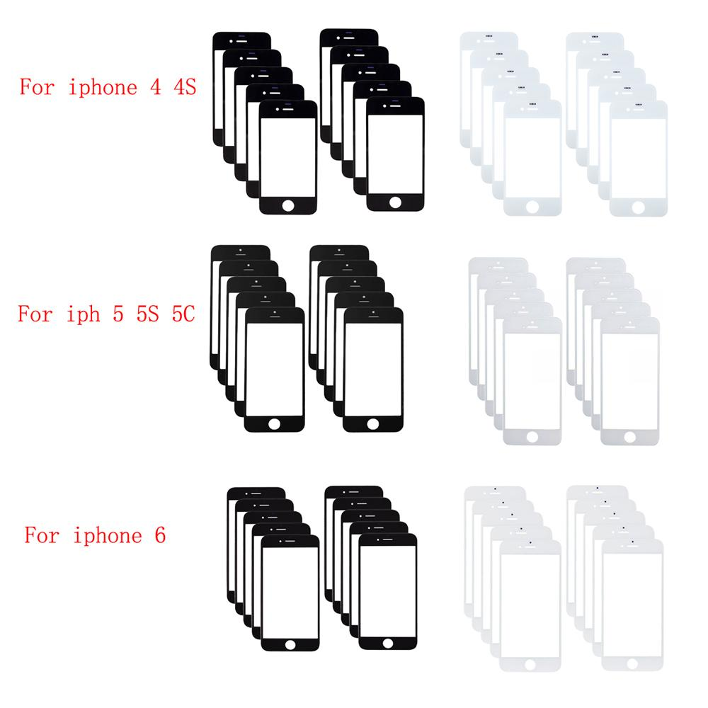 AAA Front Outer Screen Gl Lens Panel For iPhone 4 5S 5C 6 4.7