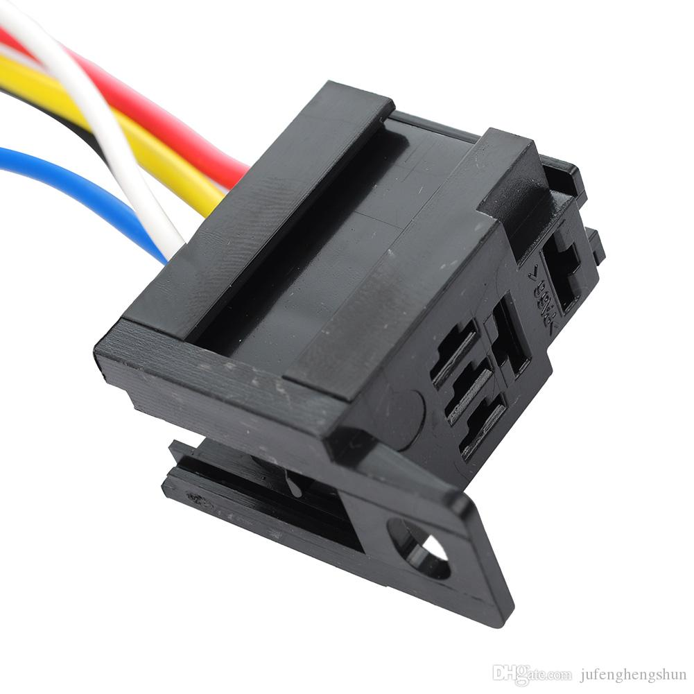 5/Car Auto Relay Socket 12V 20A 30A 5 Pin 5 Wire Kit for Electric Fan Fuel Pump Light Horn Universal DIY