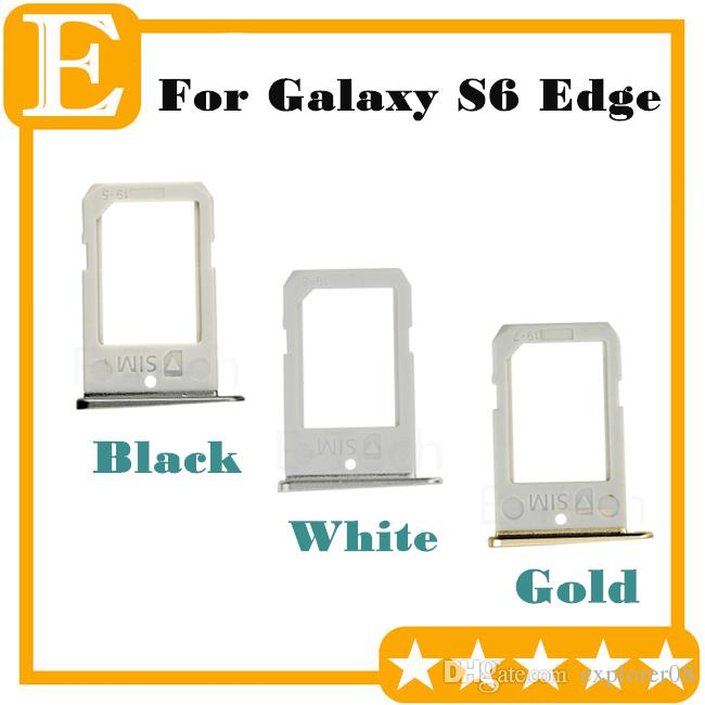 Original New SIM Card Tray For Samsung Galaxy S6 Edge G9250 G925F G925P VS G925T G925A G925V SIM Card Slot Holder Replacement Parts