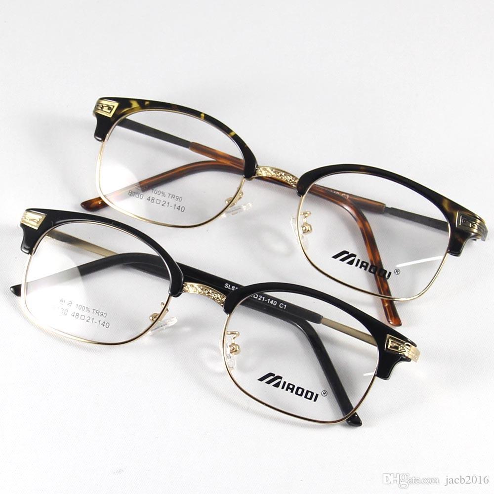 51c9be4634ff 2019 Retro Unisex Men Glasses Eyewear Eyeglasses Women Full Rim Frame Metal  Spectacles Reading Vintage Comfort Black Leopard From Jacb2016
