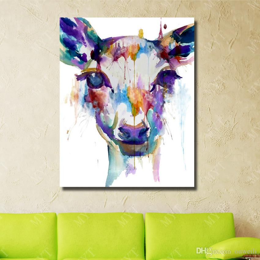funny animal pictures no wooden frame canvas art for living room wall decor wild animal oil painting