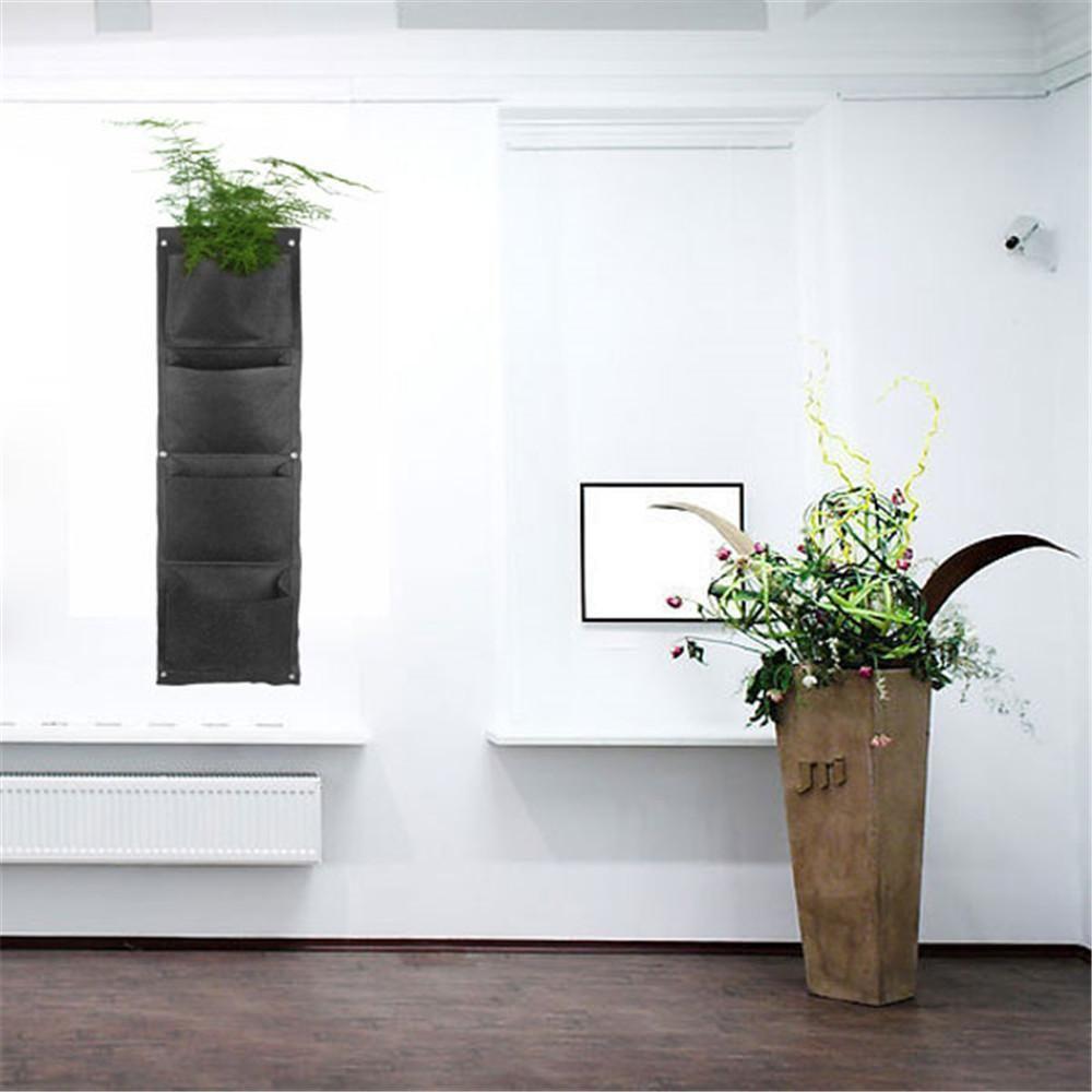 Superb Best Growing Vegetables Vertical Garden Wall Mounted Polyester Living  Indoor 4 Planting Cells Wall Hanging Planter Bag Black Under $4.61 |  Dhgate.Com