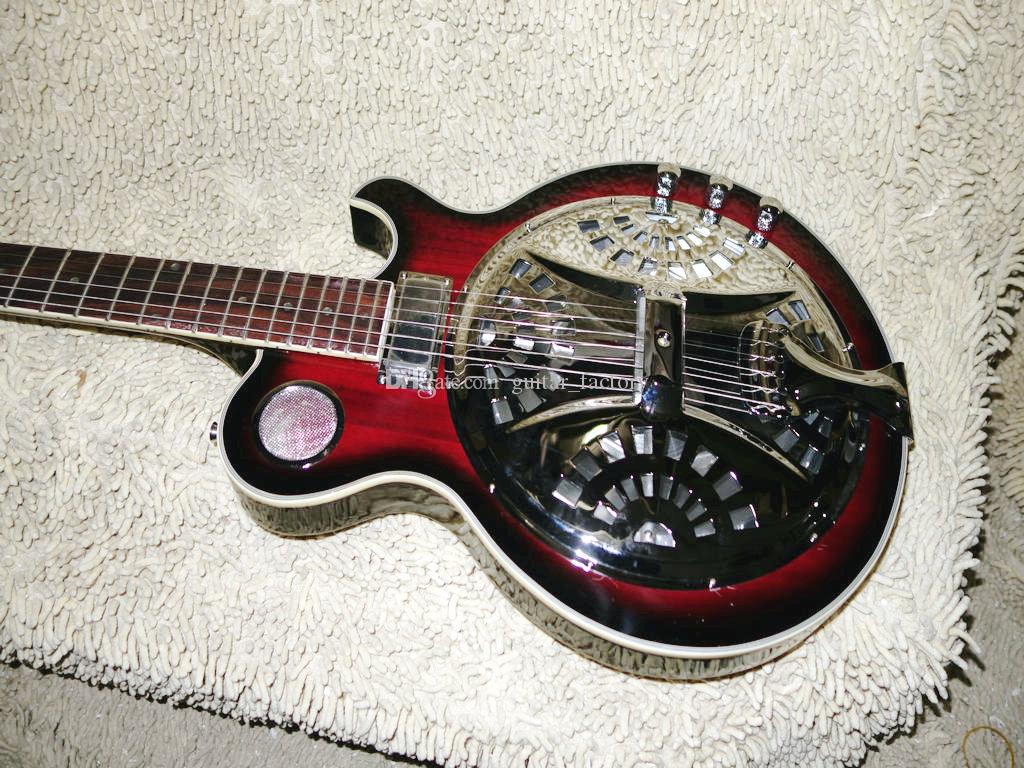 the new maple neck electric resonator guitar dobro electric guitars pink electric guitar small. Black Bedroom Furniture Sets. Home Design Ideas