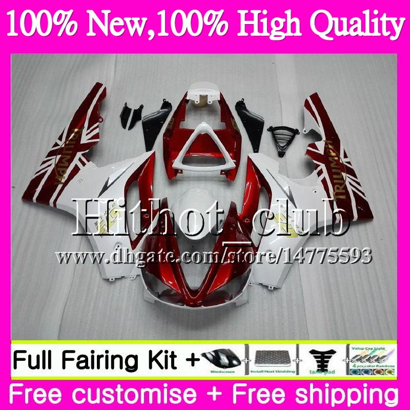 Body For Triumph Daytona 675 02 03 04 05 06 07 08 7HT20 Daytona 675 2002 2003 2004 Dark red 05 2005 2006 2007 2008 02-08 Motorcycle Fairing