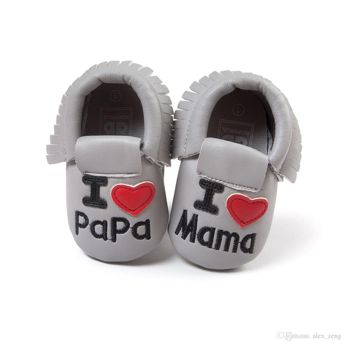 طفل الأخفاف اللحية الناعمة الوحيد بو الجلود الأولى ووكر أحذية بابا ماما الطباعة الوليد القوس الشرابة الخف أحذية الأطفال الصغار 8 اللون الحرة ems