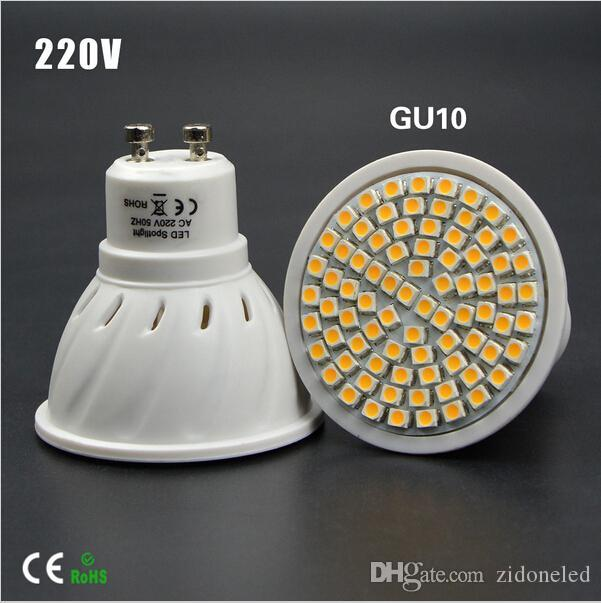 Full Watt 6W 8W GU10 LED Bulb lamp Heat-resistant Body AC 110-220V 60LEDs 80LEDs Spot light 2835SMD For Indoor lighting