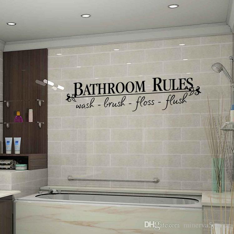 Großhandel Kreative Badezimmer Regeln Schwarzes Diy Entfernbare Wand ...