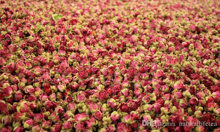 1000g Superfine organic China Xinjiang desert rose buds Rosa damascen dried rose beauty red rose tea Anti-Aging Flower Tea ft-o45